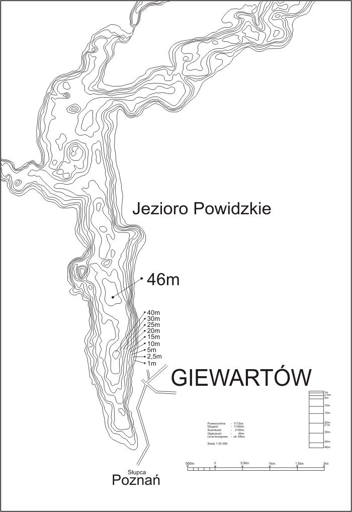pikefinder.pl/upload_img/53192_Mapa-batymetryczna-Jeziora-Powidzkiego.jpg